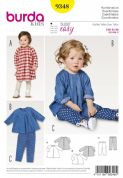 9348 Burda Pattern: Baby's Loose Dress and Leggins
